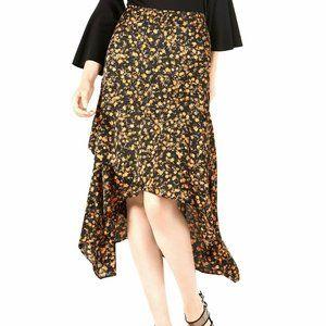 NEW!!! Bar III Ruffled Asymmetrical Midi Skirt